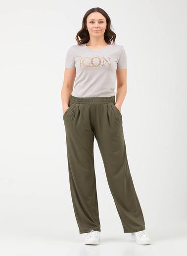 Sementa Kadın Rahat Kalıp Pantolon - Haki Haki